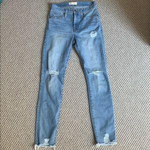 Madewell Ontario wash high waisted skinny jeans